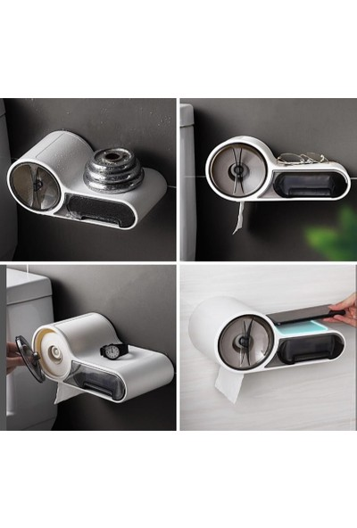 Maytic Fonskiyonlu Tuvalet Kağıtlığı Aparatı