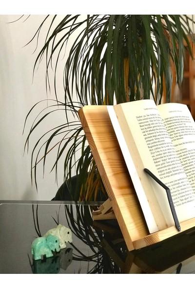 Folika Ahşap Kitap Okuma ve Tablet Standı