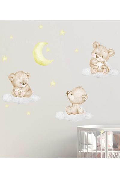 Sim Tasarım - SIM107 - Bebek Ayıcıklar Duvar Sticker Seti