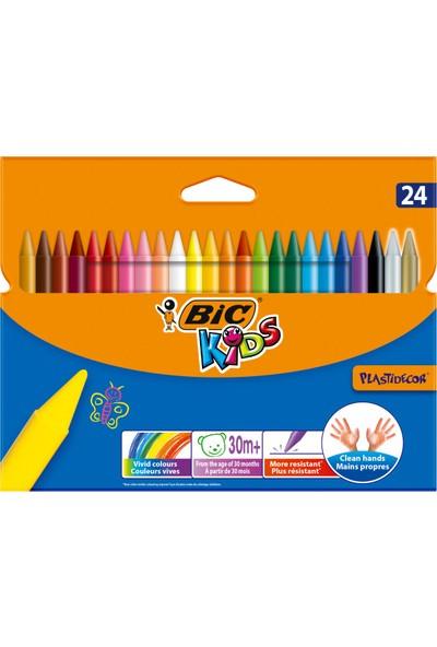 Bic Kids Plastidecor Silinebilir Elleri Kirletmeyen Pastel Boya 24 Renk