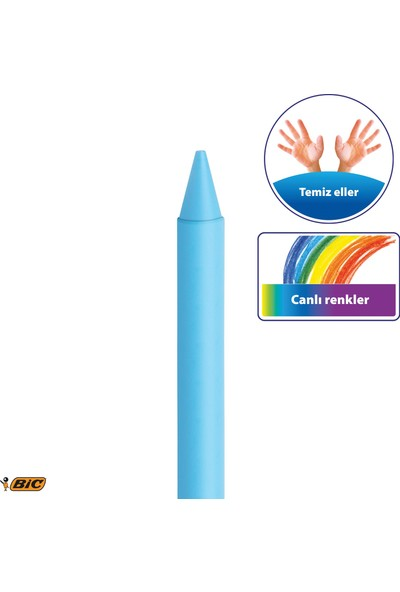 Bic Kids Plastidecor Silinebilir Elleri Kirletmeyen Pastel Boya 18 Renk