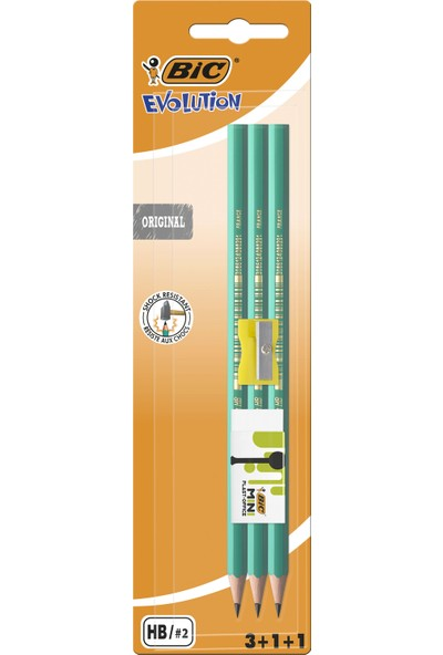 Bic Kurşun Kalem + Silgi + Kalem Traş