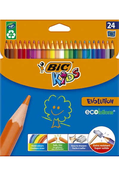 Bic Kids Evolution Kuruboya 24 Renk