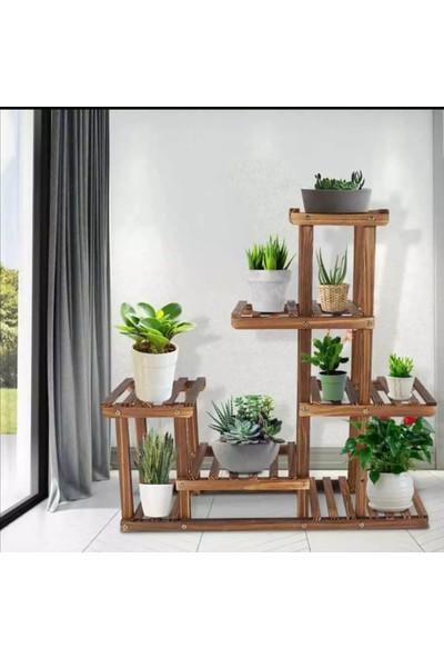 Ince Çizgi Store Dekoratif Ahşap Raflı Çiçek Standı Model6