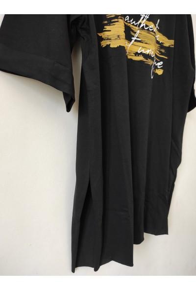 New Fashion Kuzey Fashion Yanları Yırtmaçlı Tişört