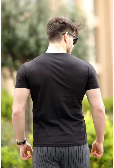 Cool & Wear Cool&wear 12104 Basic Siyah T-Shirt