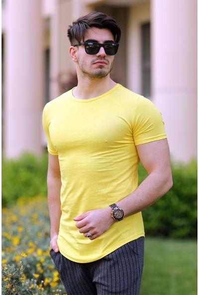 Cool & Wear Cool&wear 12103 Basic Oval Etek Sarı T-Shirt