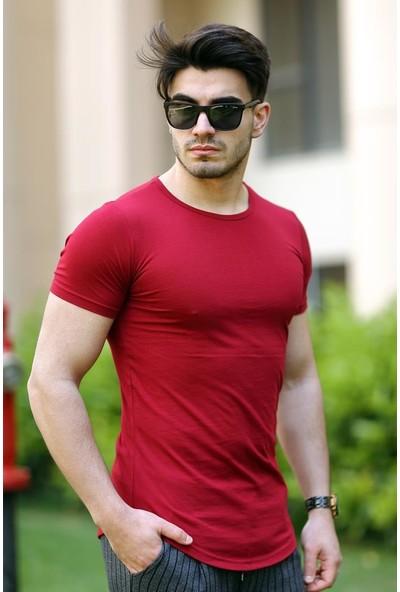 Cool & Wear Cool&wear 12103 Basic Oval Etek Kırmızı T-Shirt