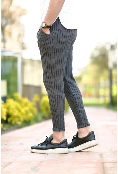 Cool & Wear Cool&wear 11205 Çizgili Antrasit Erkek Eşofman