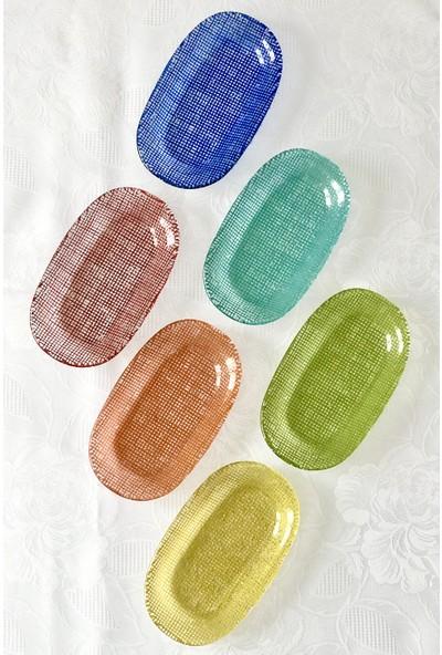 Sunu Rengim 6'lı Oval Kahvaltı & Meze Tabağı Seti 10 x 16,5 cm.