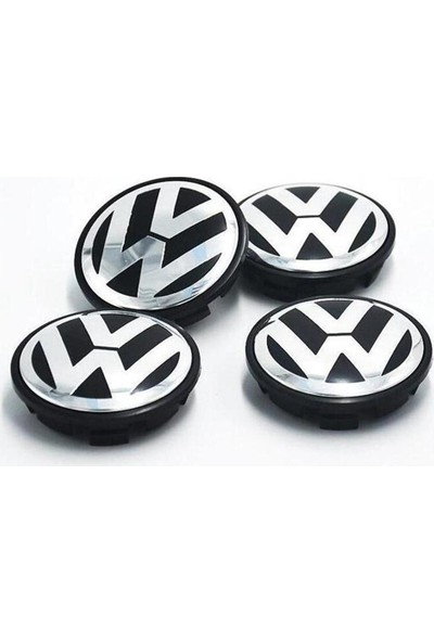 Araba Alışveriş Volkswagen Aksesuar Polo Jant Göbeği Kapak Seti (4 Adet)