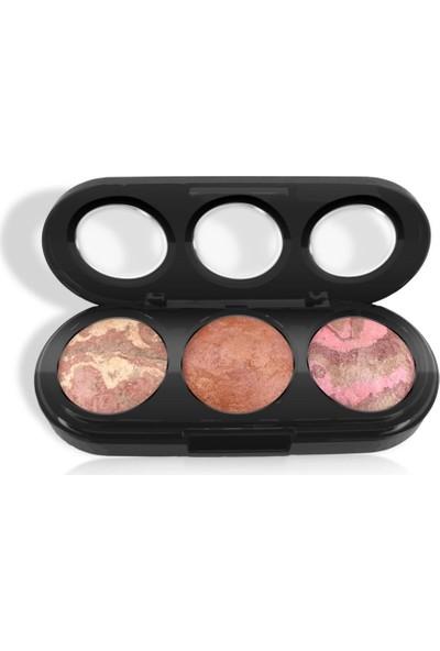 Makeuptime 3'lü Terracotta Allık Turuncu Ton