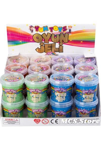 Yum Toys Slime Metalik Parlak Simli Eğitici Oyun Seti - CE Belgeli - 6'lı Paket