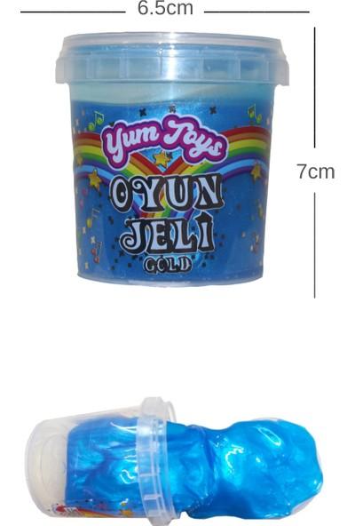 Yum Toys Slime Metalik Parlak Simli Eğitici Oyun Seti - CE Belgeli - 1 Adet Mavi Renk