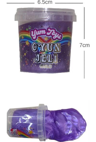 Yum Toys Slime Metalik Parlak Simli Eğitici Oyun Seti - CE Belgeli - 1 Adet Mor Renk