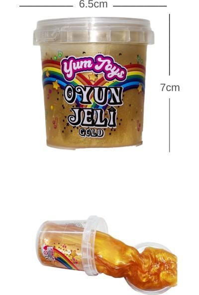 Yum Toys Slime Metalik Parlak Simli Eğitici Oyun Seti - CE Belgeli - 1 Adet Altın Sarı Renk