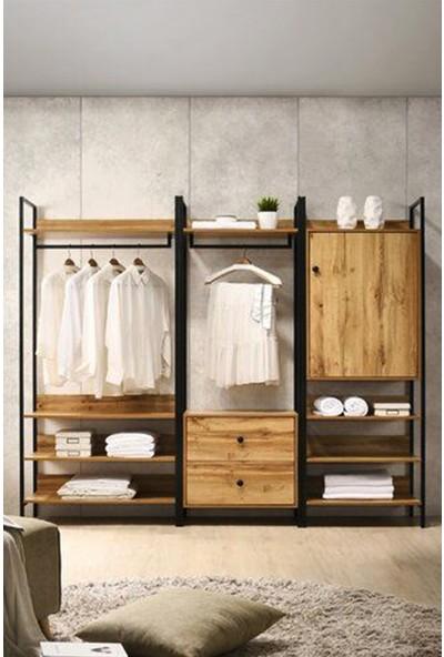 Lacivert Reklam Shop 160X180X50 cm Yeşilköy Gardırop L635