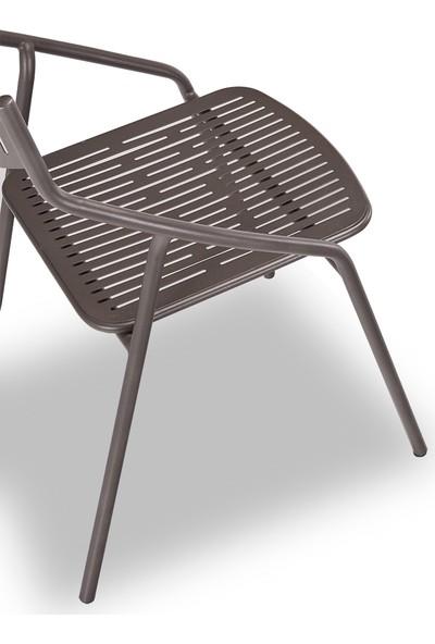 Decosit Alba Bahçe Balkon Metal Sandalye - Antrasit