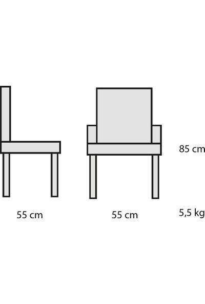 Decosit Smart Plastik Gövde Metal Ayak Bahçe Balkon Mutfak Sandalyesi - Bej