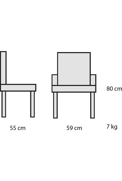 Decosit Plato Plastik Gövde Metal Ayak Bahçe Balkon Mutfak Koltuğu - Bej