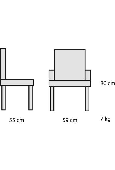 Decosit Plato Plastik Gövde Metal Ayak Bahçe Balkon Mutfak Koltuğu - Antrasit