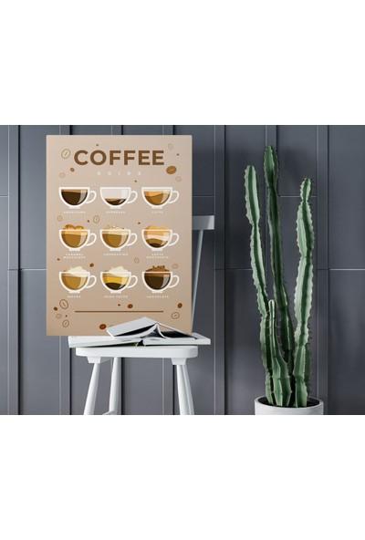Bitmeyen Kartuş Bk Home Coffee Tasarımlı Kanvas Tablo 50X70CM-13