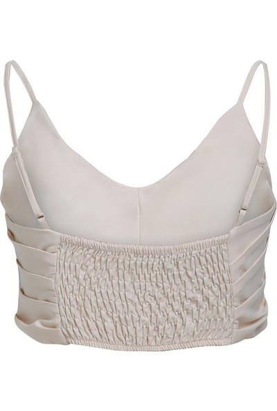 Kadın Askılı Crop Bluz - Kemik
