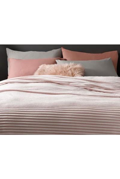Unicolor Çok Amaçlı Süper Soft Çift Kişilik Battaniye ve Yatak Örtüsü Soft Pembe