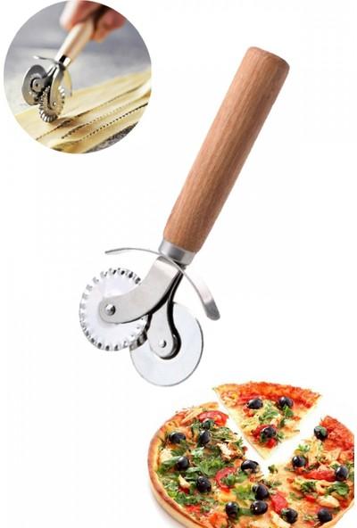 Ucuzal Ahşap Pizza ve Hamur Kesici Rulet
