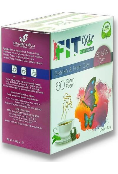 Fit Ixir Bitkisel Karışım Detoks & Form Çayı 2 x 60 Süzen Poşet