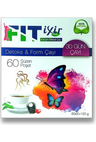 Fitixir Bitkisel Karışım Detoks Form Çayı 2 x 60 Süzen Poşet