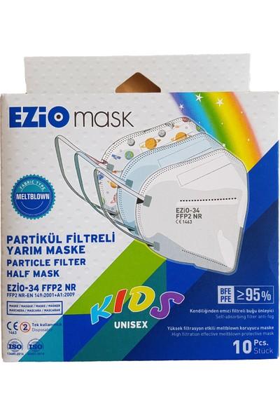 Ezio Beyaz Çocuk Ffp2 Nr Koruyucu Çocuk Maskesi 50 Adet