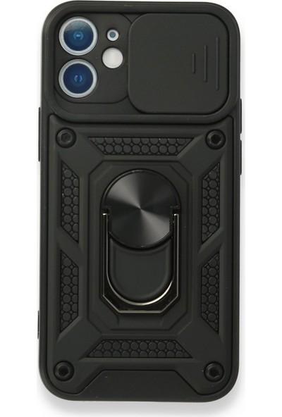 BizimGross Apple iPhone 12 Kılıf Lens Korumalı Mıknatıslı Yüzüklü Tank Kılıf Kapak