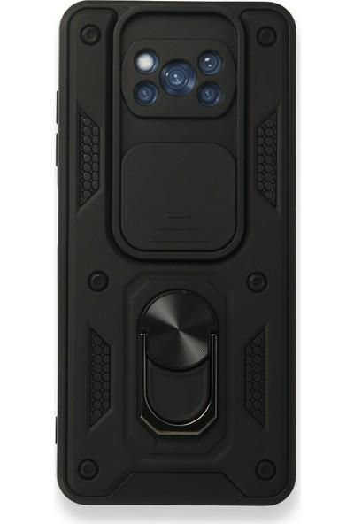 BizimGross Xiaomi Poco X3 Nfc Kılıf Lens Korumalı Mıknatıslı Yüzüklü Tank Kılıf Kapak