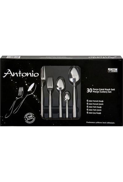 Antonio 30 Parça Paslanmaz Çelik Çatal Kaşık Seti
