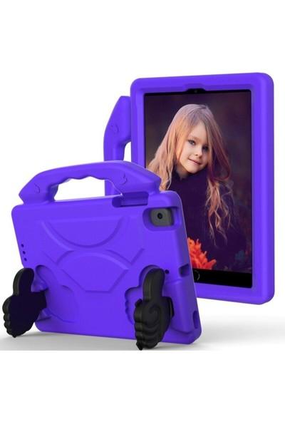Blupple Samsung Galaxy Tab S6 Lite P610 Like Tablet Kılıfı Tutmalı Stand Silikon Koruma Mor Çocuk