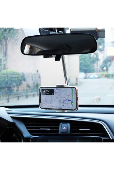 Blupple Lg-01 Araç Içi Dikiz Aynası Telefon Tutucu Ayarlanabilir 360 Dönerli Başlık Beyaz
