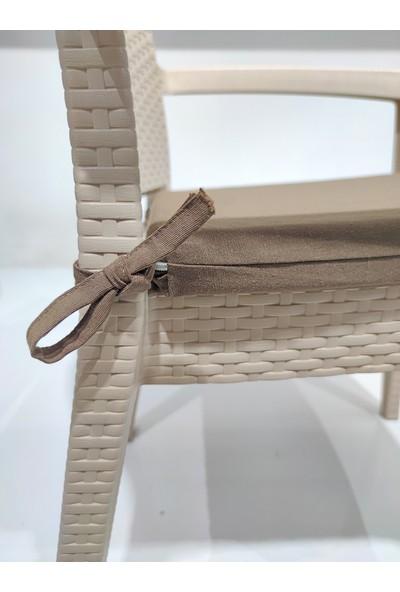 Derya Ticaret Sandalye Minderi 4'lü 40X45CM Fermuarlı