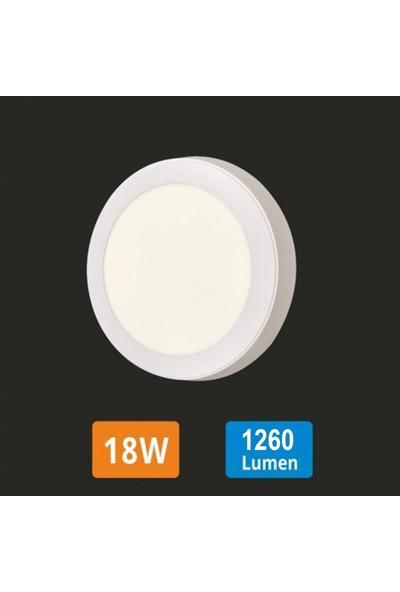 Infoled 18W LED Yuvarlak Model Slim Panel Armatür Beyaz Işık