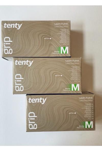 Tenty Pudralı Eldiven Medium Beden 3'lü Set 3 x 100'LÜ