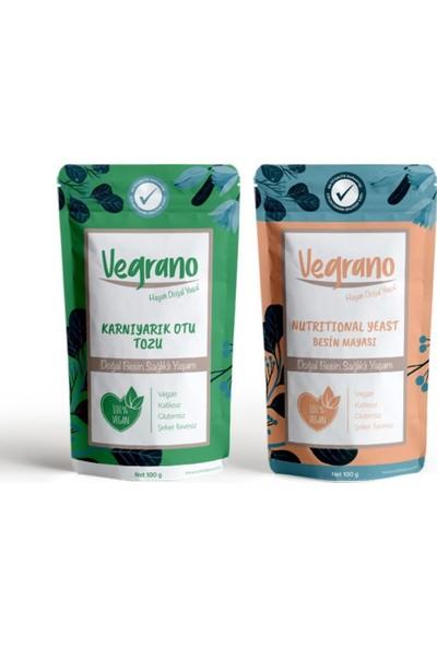 Vegrano Karnıyarık Otu Tozu (Psyllium Tozu) 100 gr + Nutritional Yeast (Besin Mayası) 100 gr