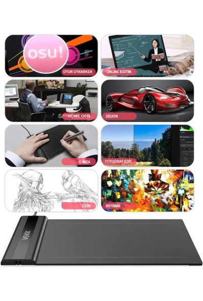 "Veikk S640 6 x 4"" 8192 Levels 5080 LPI Grafik Tablet + Kalem"