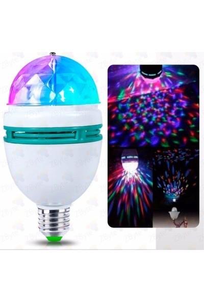 Durbuldum Renkli Disko Ampülü Hareketli 360 Derece Dönen Disco Topu LED Disko Dönen