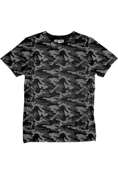 John Frank Erkek T-Shirt JFTMC12-CAMO STAR