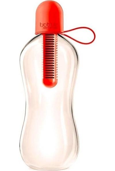Bobble Bobble Klasik Su Şişesi 550 ml Kırmızı