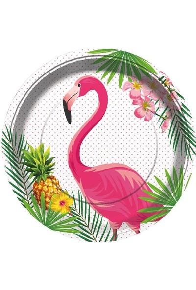 Gentilbay Flamingo Temalı Parti Tabağı 8 Adet