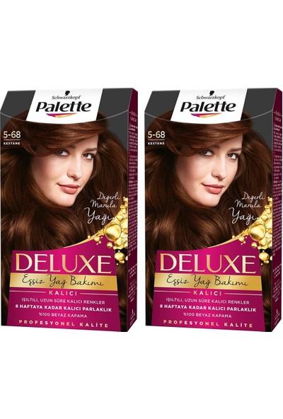Palette Deluxe 5-68 Kestane x 2 Paket