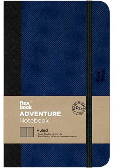 Flex Book 58 Esnek 9x14 cm Turuncu Mor Şertli Çizgili Not Defteri 58