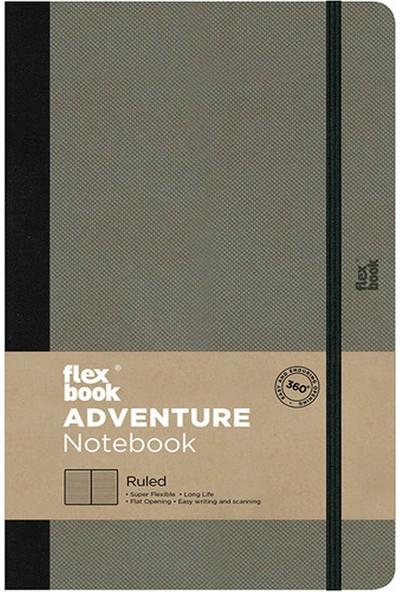 Flex Book Esnek 13x21 cm Turuncu Çizgili Akıllı Not Defteri 2100048