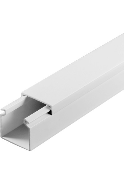 A Plus Elektrik 25x25 mm Beyaz 2x1m=2m Bantsız Kablo Kanalı